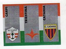figurina CALCIATORI CALCIO FLASH 1993 SCUDETTO CARPI, TRIESTINA, CATANIA