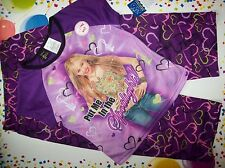 Hannah Montana Pajamas Sleepwear 2pc Set Girls Size 6-6x Purple Capris NWT