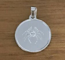 NEW Cancer Sterling Silver Zodiac Pendant 925 Horoscope Charm S/S Solid Crab