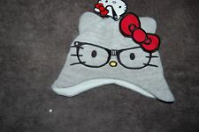 Hello Kitty with Glasses Knitted Hat from George Grey Age 1-3 Years BNWT