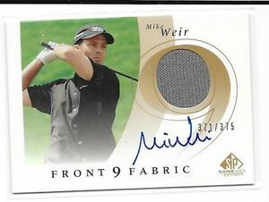 2002 SP Game Used Golf - MIKE WEIR - Front 9 Autograph Worn Shirt #d 371/375
