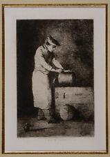 Théodule RIBOT - 1823 - 1891 - '' L'Aide de cuisine ''.