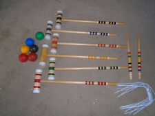 Sport Craft 6 Player Wooden Croquet Set & Carrying Case complete