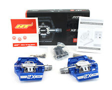 HT Components X2 Mountain Bike Clipless Pedals, Blue