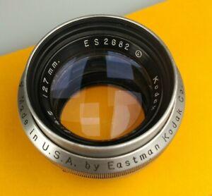 Kodak Ektar 127mm F 4.5 Lens, 4x5, No Shutter, Rochester NY, #ES2682 L, 1946
