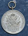 Medaille RARITÄT Oelsnitz D. 1 März 1859 Verein ehren V. Verabschiedet militairs