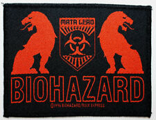 "BIOHAZARD BAND ""Mata Leao"" WOVEN PATCH 1996 - 3.75""x3"" - blood for blood"