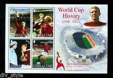 Bobby Moore World Cup 1966 mnh souvenir sheet 2002 Gibraltar #908a