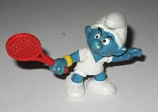 PUFFO TENNISTA racchetta rossa 20049 W. Germany 1979 Peyo Smurf Tennis player
