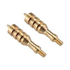 2 Pieces .44 Caliber Solid Brass Spear Pointed Jag Gun Clean Accessories Brass