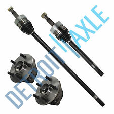 Front Left And Right PART TIME 4x4 CV Axle Shafts + 2 Wheel Hub Bearing Assembly