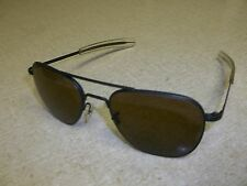 American Optical Vintage Brown Aviator Sunglasses with Leather Case *Free Ship*