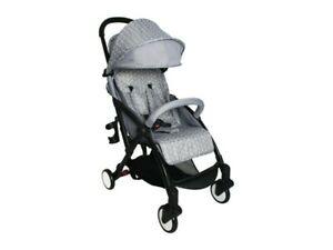 My Babiie MBX4HL Grey Herringbone Super Lightweight Compact Stroller 0m+ 0-15kg