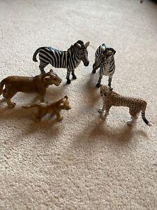 SCHLEICH GERMANY Wild Animals Display Toy Figure Bundle Lot