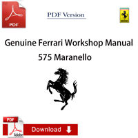 FACTORY Ferrari 575M Maranello Workshop Manual