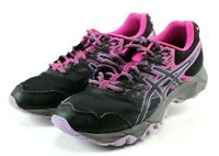Asics Gel-Sonoma 3 $100 Women's Trail Running Shoes Size 10 Black Pink