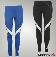 Ladies Reebok Stretchy Speedwick Fitted Full Length Logo Tights Sizes 6-22