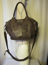 bag LIEBESKIND leather taupe imitation leopard