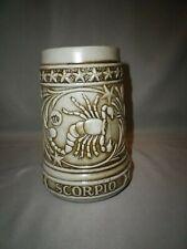 Ceramarte The Zodiac Collection by Swank Brazil Scorpio Thick Beer Stein Mug