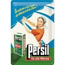 Persil von Henkel Frau Blechschild Metal Tin Sign 3D geprägt gewölbt 20 x 30 cm