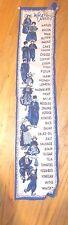 Dutch folk art blue & white linen grocery list with clips