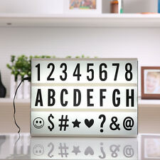 A4 Size LED Cinematic Light Box Cinema Letter Lamp Party Wedding Home Decor Gift