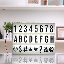 A4 Cinematic Light Box 90 Extra Letters Numbers Symbols Cinema Led + USB Led UK