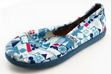 Toms Toddler Sz 12 Medium Blue Loafers Fabric Girls