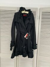 Ladies Black Size 14 Frilled Coat  From Christian Lacroix Pour La Redoute