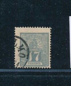 D148367 Sweden VFU Lion & Arms 1862 Sc. 15 17o gray
