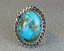 Mans Turquoise ring Morenci mine  Jim Saunders Artist size 12-13 Rg-684