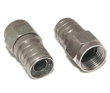 NEW 100 pack weatherproof F male RG6 coax crimp-on plug