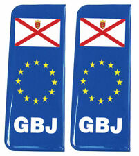2x Jersey (GBJ) blu dell' UE-GEL CUPOLA TARGA SCUDETTI / Decalcomanie 107x42mm