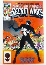 Marvel SECRET WARS #8 1st BLACK SUIT Venom ZECK Beatty w/ COA Signed NM (9.4)!!!