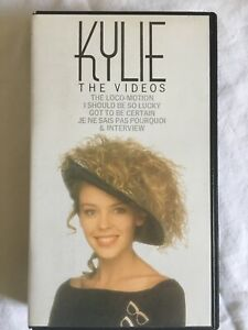 Kylie : The Videos ~ Vintage VHS ~ 1988 ~ UK Release ~ Kylie Minogue