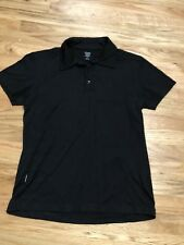 Men's Icebreaker Super Fine Lite 200 Merino Wool Polo Shirt, Size Small S Black