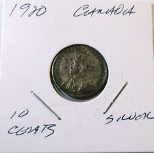 1920 10 Cents canada George V Fine