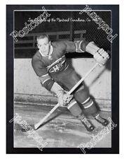Historic Leo Gravelle of the Montreal Canadiens, Ca 1950 Ice Hockey Postcard