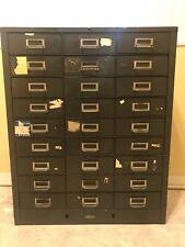 Cole Steel Cole Steel Vintage Metal Industrial 27 Drawer Metal Parts Cabinet