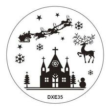 Christmas Reindeer Nativity Nail Art Stamp Decals Nails Stamping Plate dxe35