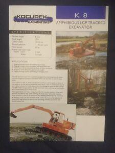 Kocurek K8 Amphibious Excavator Leaflet
