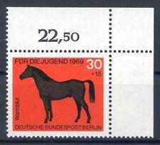 Berlin Mi-Nr 328  Ecke 2  (30+15) -Jugend;Pferde- ** Postfisch 1969