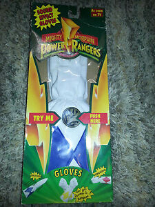 POWER RANGERS Bandai Toy 1994 SOUND EFFECT GLOVES Blue HALLOWEEN OUTFIT COSTUME