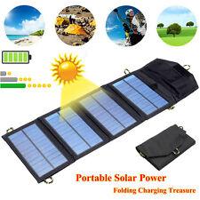 5V 7W Caricabatteria a Energia Solare Pannelli Portatile Pieghevole USB 1400mAh