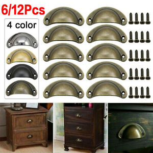 Shell Cup Handles Half Moon Iron Vintage Cabinet Cupboard Drawer Pull Door UK