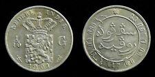Netherlands Indies - 1/10 Gulden 1901 Zeer Fraai+ ~ Scho. 831
