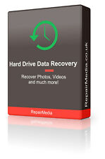 HardDrive Data Restore/Recover Undelete Lost Files Music Photos Images DVD
