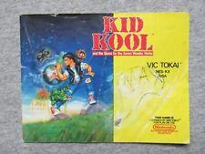 Kid Kool manual - no game .... NES Nintendo