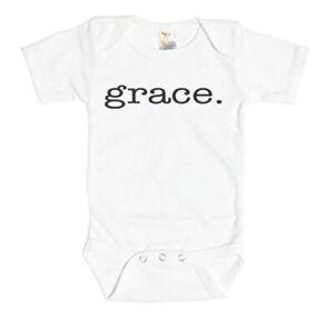 CHRISTIAN BABY BODYSUIT, GRACE, Religious INFANT ROMPER, INSPIRATIONAL Creeper