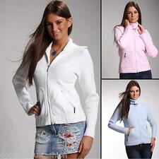 Ladies Sweater Front Zip Womens Top Jumper Cardigan Knitted Zipper size 8 10 12